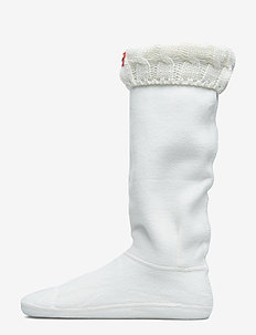 Hunter 6 Stitch CableBoot Sock - NATURAL WHITE