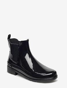Hunter Orig Refin Chelsea Gloss - BLACK