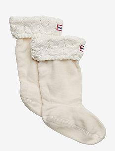 Kids Chunky CableWellySock - strømper - ivory
