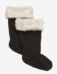Hunter Kids FurryCuffWellySock - sokker - polar white
