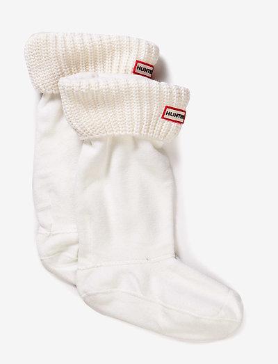 Hunter Half Cardigan Boot Sock - sale - white