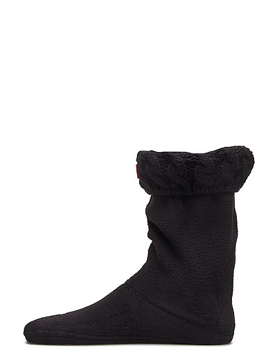 Hunter Kids 6Stitch Cable Sock - BLACK
