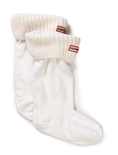 Hunter Half Cardigan Boot Sock - WHITE