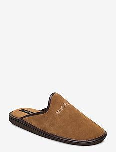 SUEDE LTHR UPPER - sandały - taupe