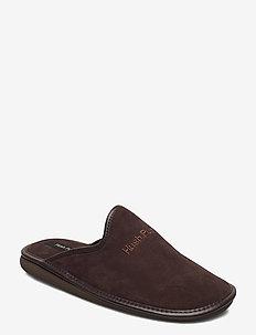 suede leather - sandały - brown