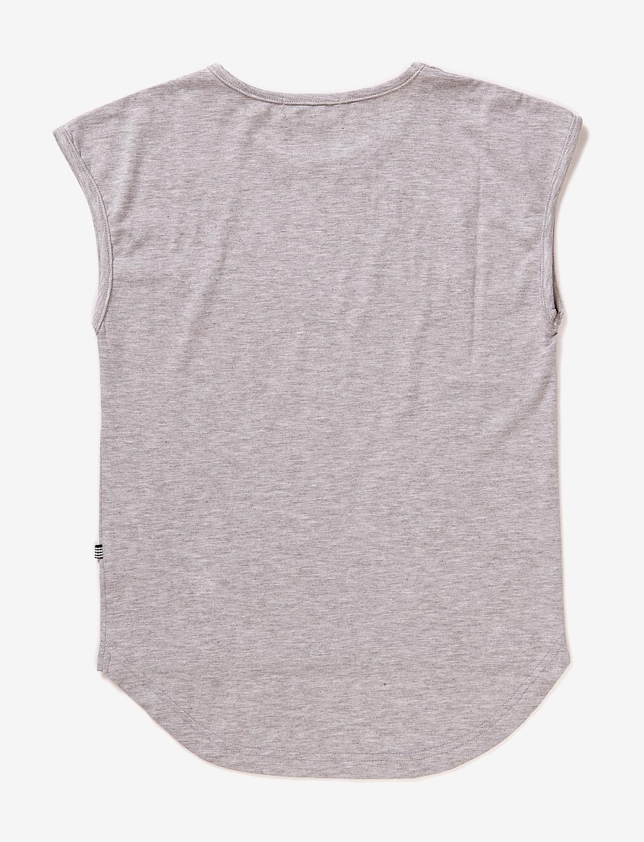 Hust & Claire - T-shirt, - bez piedurknēm - pearl grey melange - 1