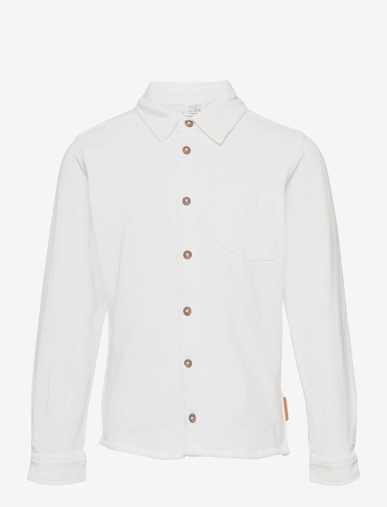 Hust & Claire - Rasmus - Shirt - shirts - white - 0