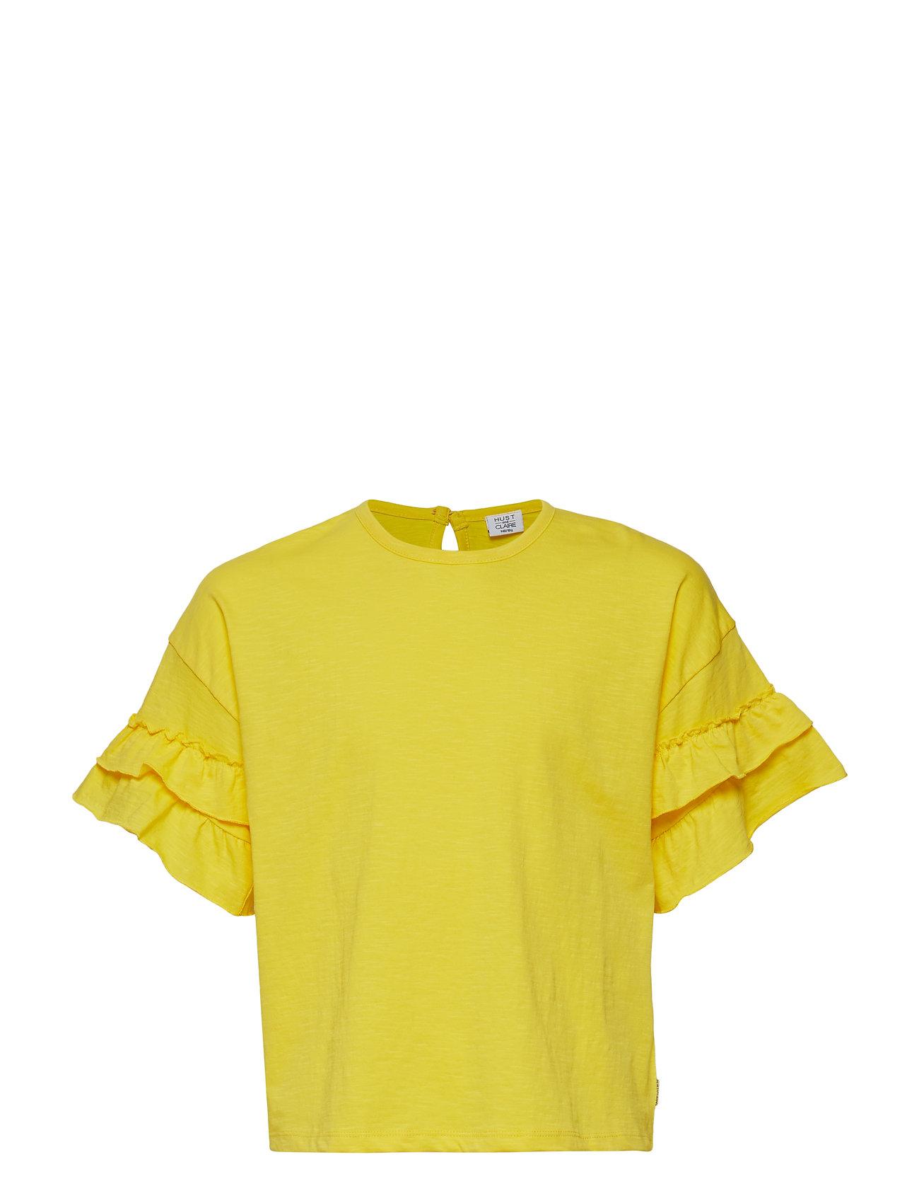 Hust & Claire Adela - T-shirt S/S - LEMON