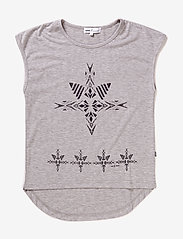 Hust & Claire - T-shirt, - bez piedurknēm - pearl grey melange - 0