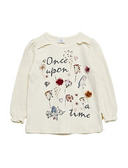Agenete - T-shirt L/S - SNOW WHITE