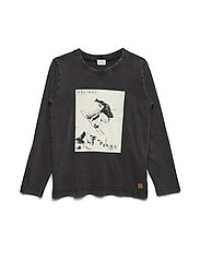 Agge - T-shirt L/S - BLACK