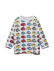 Alex - T-shirt l/s - PEARL GREY MELANGE