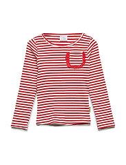 Alma - T-shirt l/s - POPPY RED