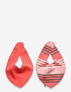 2 pack SCARF - Oekotex - hagesmække - strawberry pink