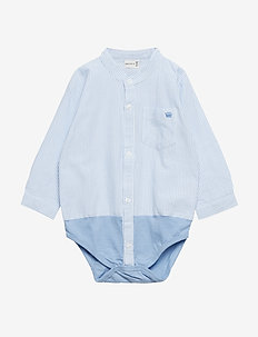 Bertil - Shirt body - long-sleeved - light blue