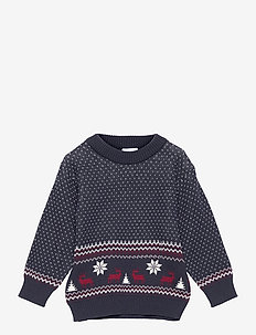 Paw - Pullover - knitwear - navy