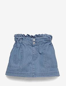 Naima - Skirt - röcke - washed denim