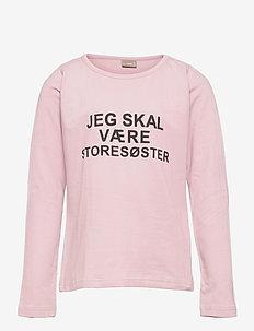T-shirt L/S - langærmede t-shirts - powder rose