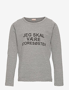 T-shirt L/S - langærmede t-shirts - wool grey