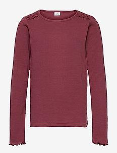 April - T-shirt - long-sleeved t-shirts - wild plum