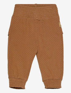 Trine - Trousers - sweatpants - cinnamon
