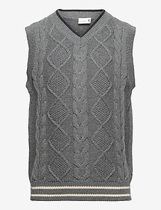 Slipover - vests - wool grey