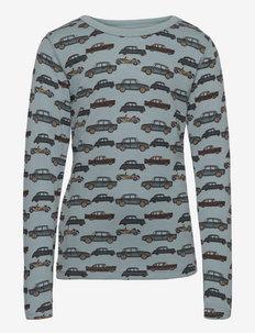 Abba - Nightwear - long-sleeved t-shirts - aqua flow