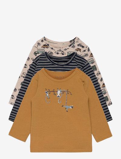 Albert - T-shirt 3-pack - long-sleeved t-shirts - navy