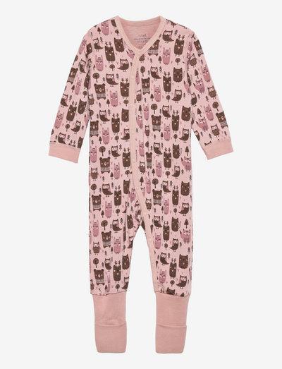 Manu - Nightwear - slaapoveralls - dusty rose