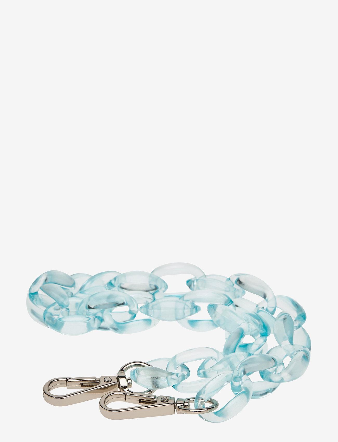 HVISK - OVAL CHAIN HANDLE - laukun hihnat - crystal blue - 0