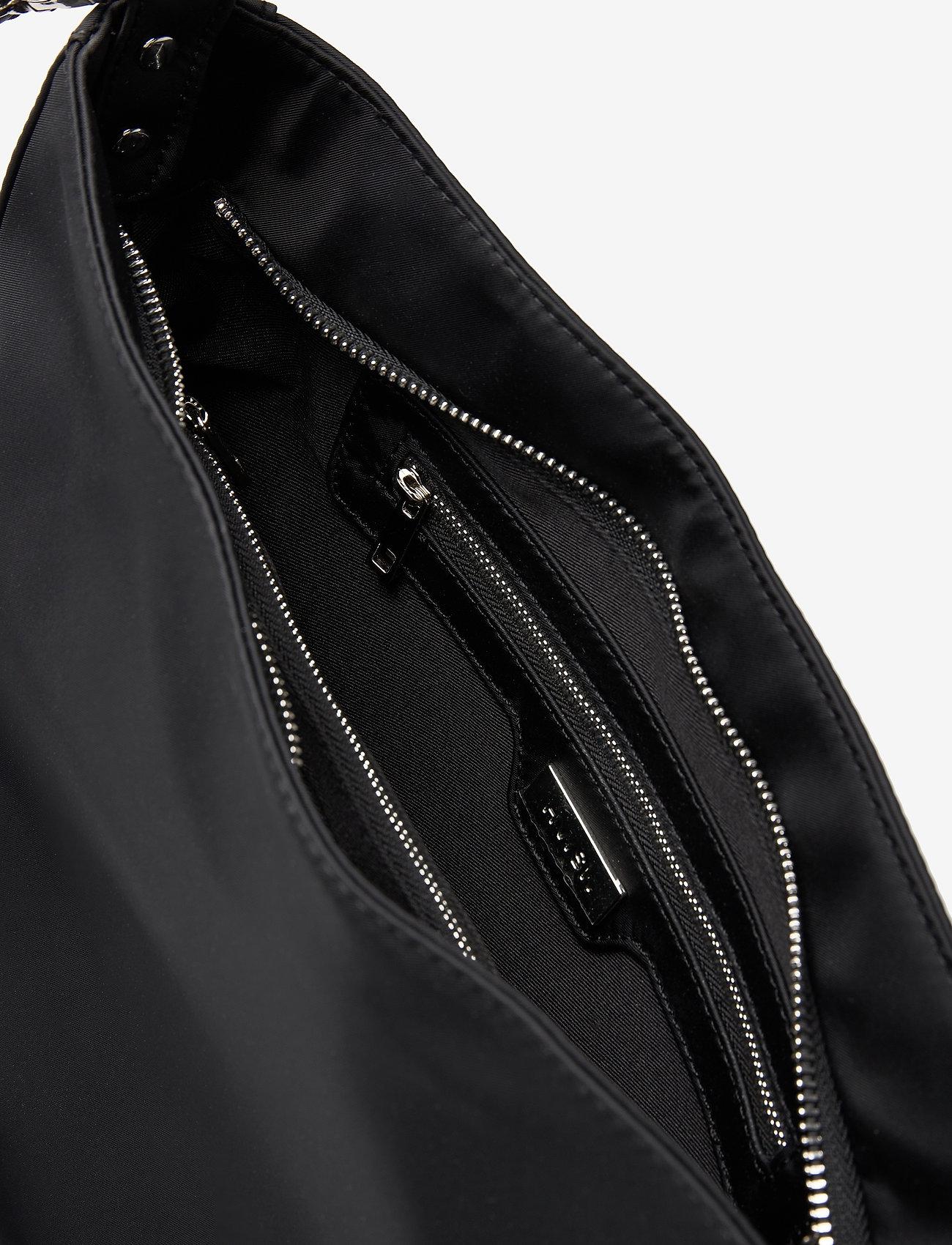 HVISK - AMBLE NYLON RECYCLED - shoulder bags - black - 4