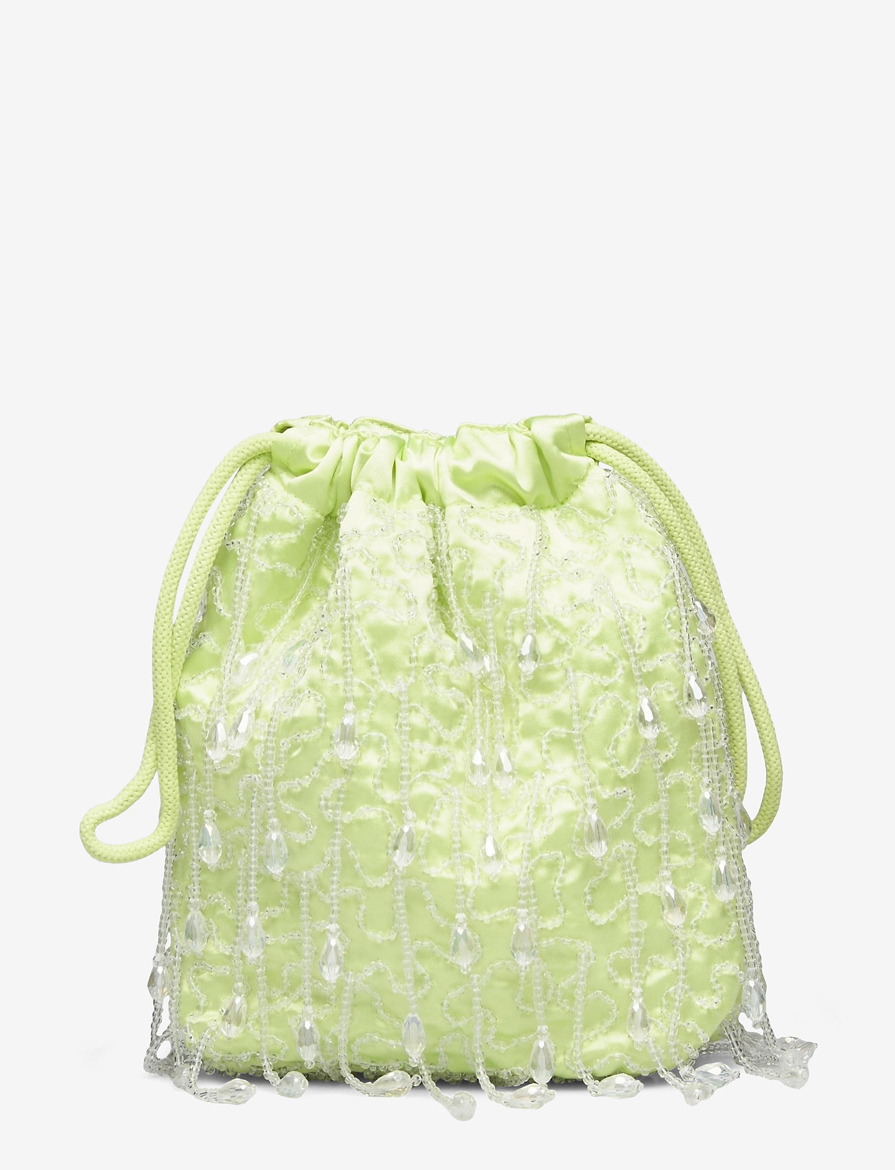 HVISK - POUCH ROMANCE BEADED - bucket-laukut - lime green - 1