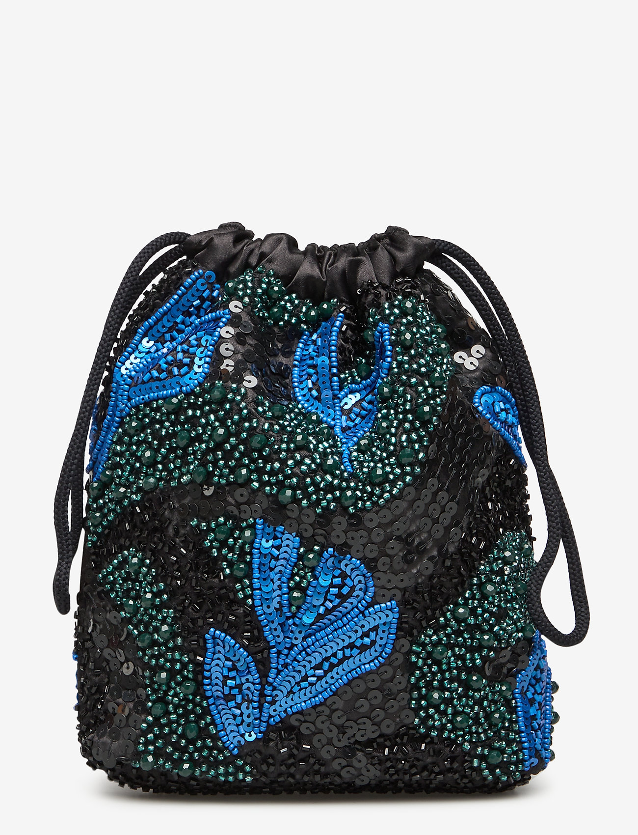 HVISK - POUCH GALLERY BEADED - clutches - blue / black - 1