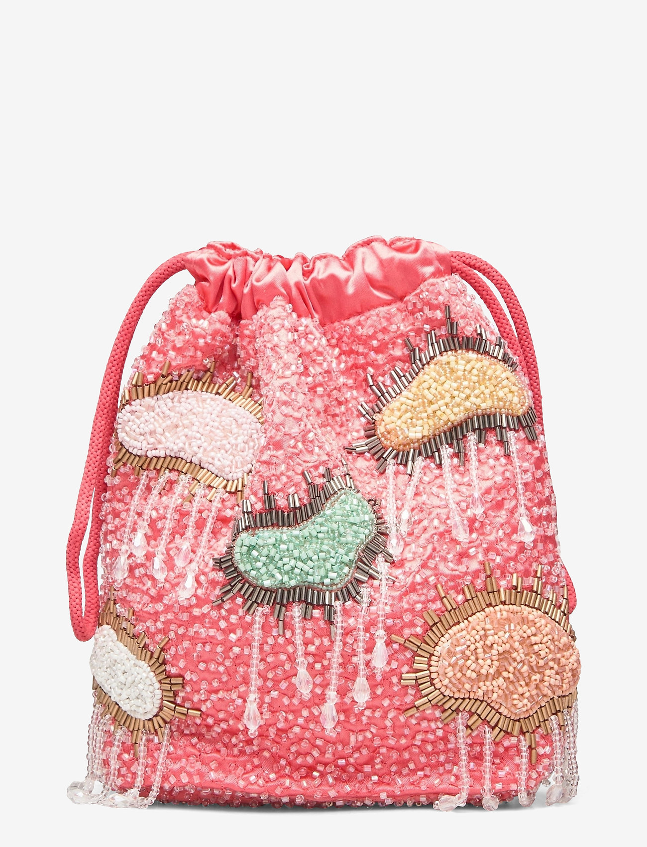 HVISK - POUCH MULTI CLOUD BEADED - bucket-laukut - peach - 1
