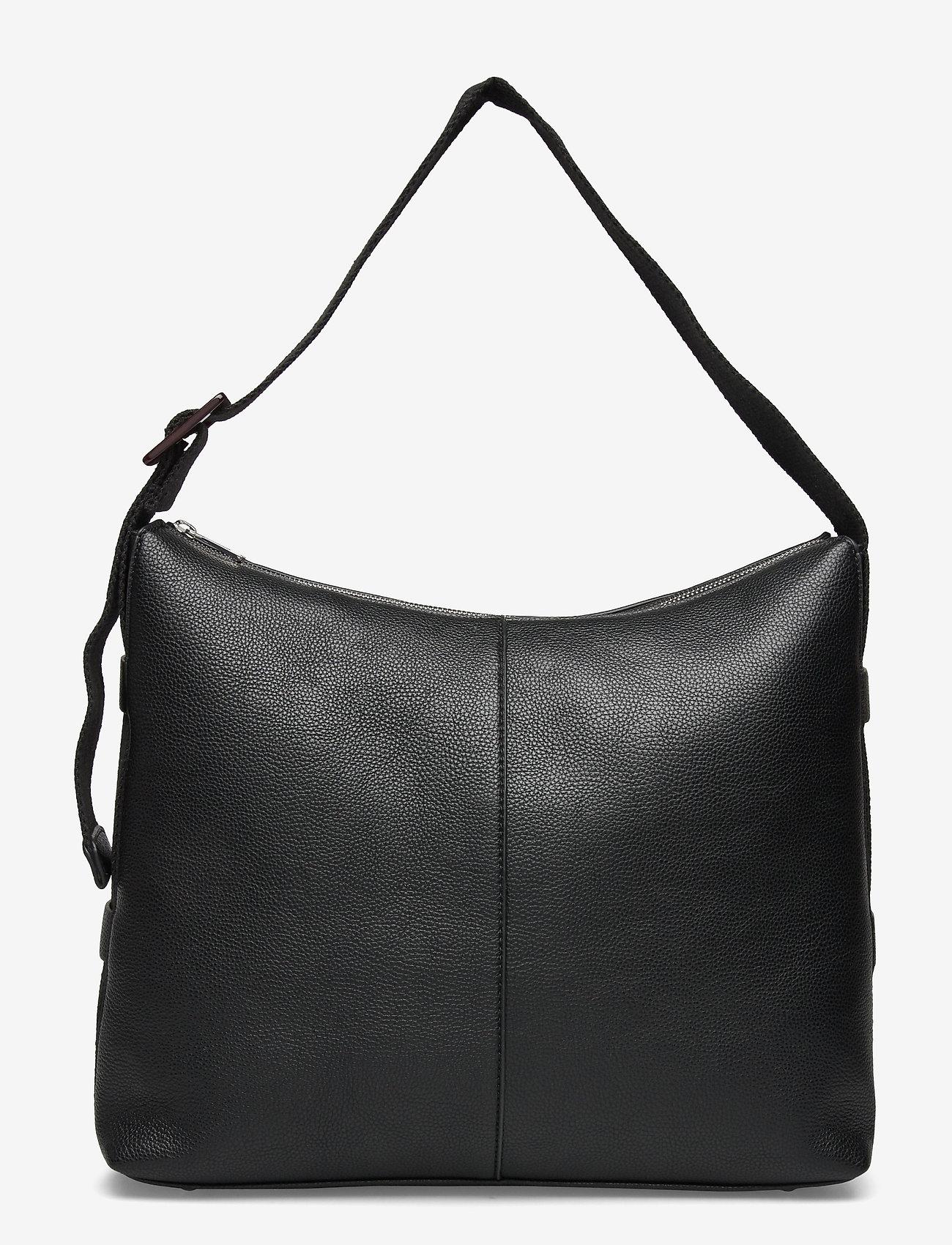 HVISK - BRINY STRUCTURED - handväskor - black - 0
