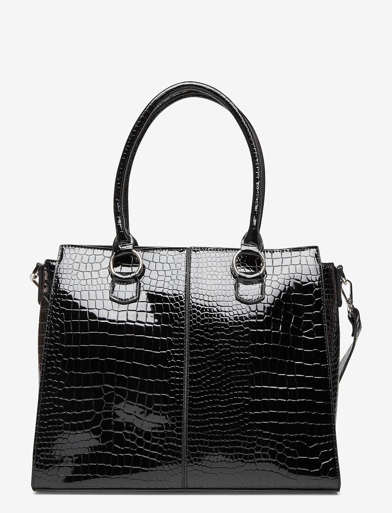 HVISK - MOXIE CROCO - handväskor - black - 1