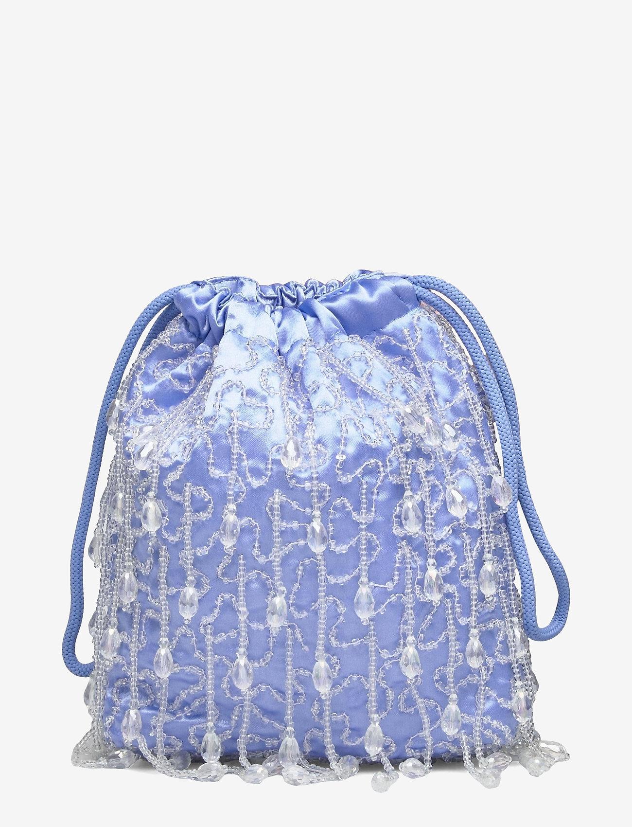 HVISK - POUCH ROMANCE BEADED - bucket-laukut - baby blue - 1