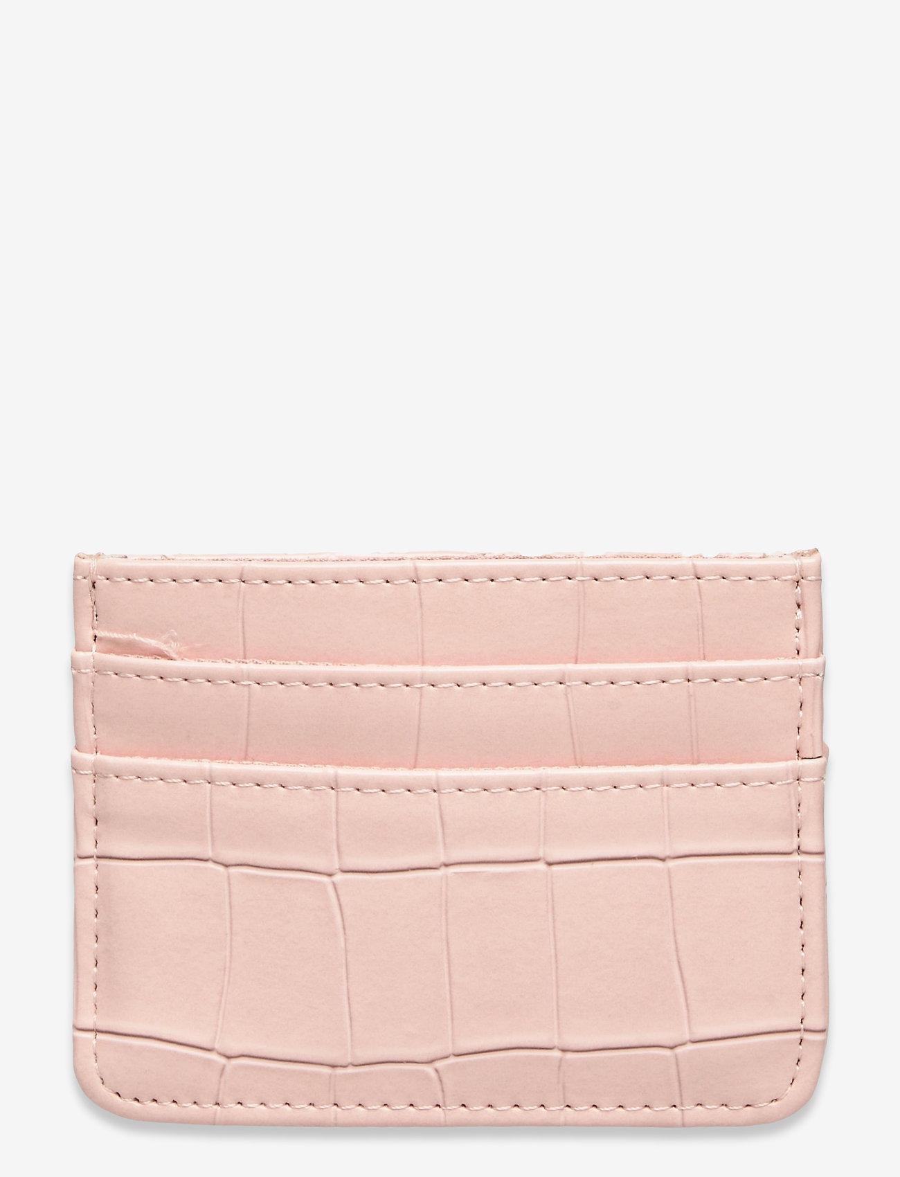 HVISK - CARD HOLDER CROCO - porte-cartes - soft pink - 0