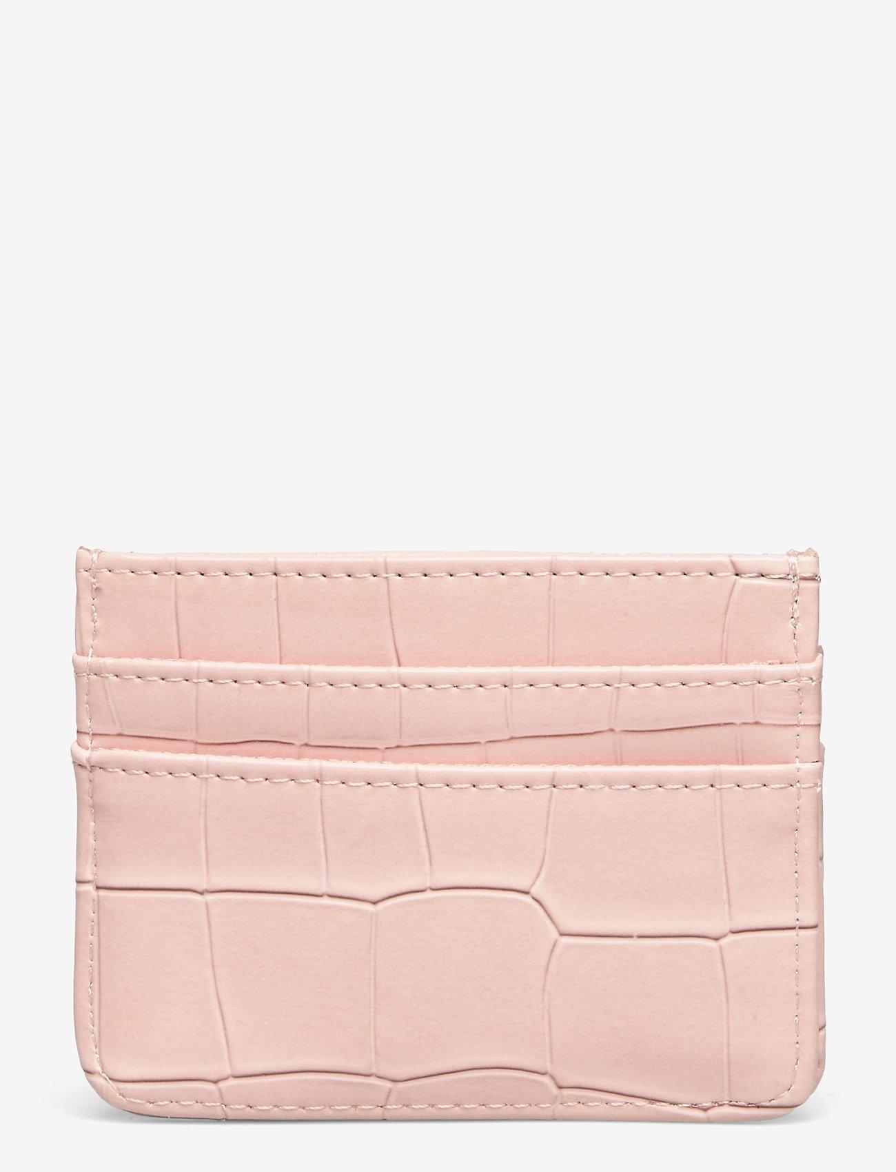HVISK - CARD HOLDER CROCO - porte-cartes - soft pink - 1