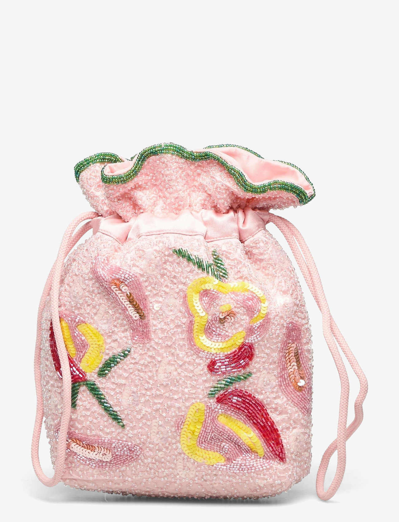 HVISK - POUCH DALE BEADED - bucket bags - pink - 1