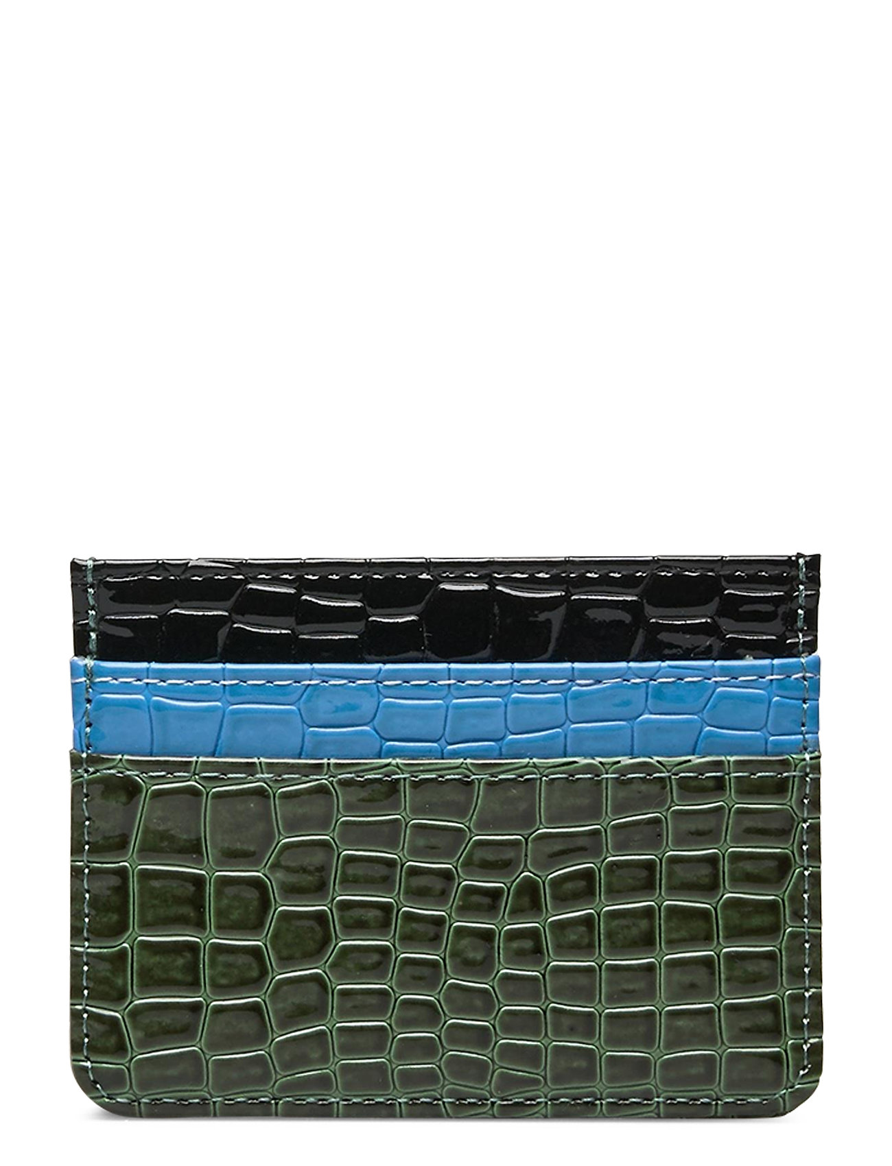 Image of Card Holder Multi Croco Bags Card Holders & Wallets Card Holder Sort Hvisk (3455524001)