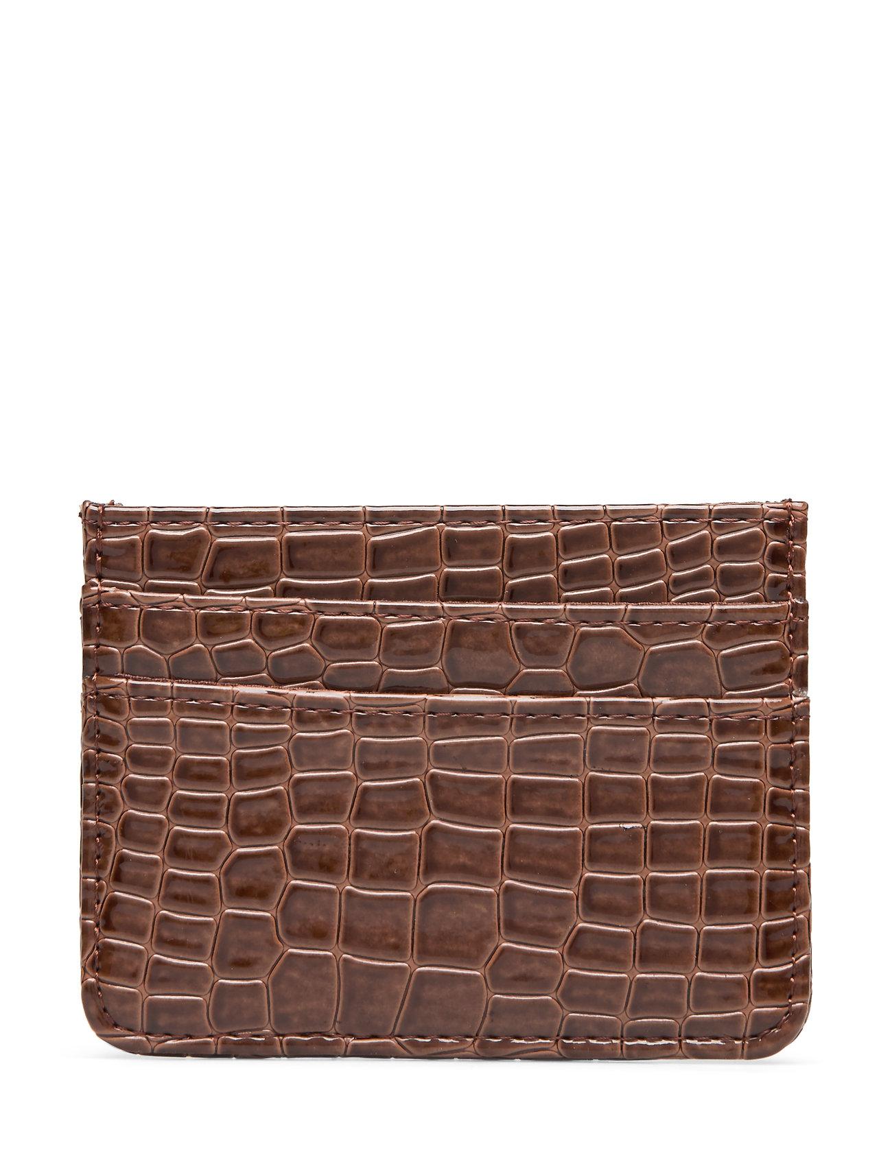 Image of Card Holder Croco Bags Card Holders & Wallets Card Holder Brun Hvisk (3272272441)
