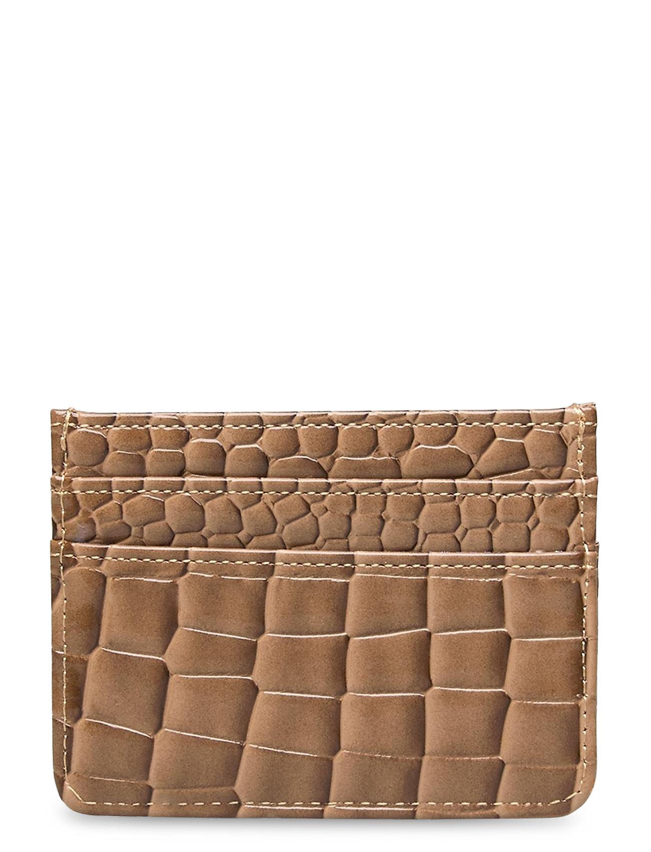 Image of Card Holder Croco Bags Card Holders & Wallets Card Holder Beige Hvisk (3439673391)