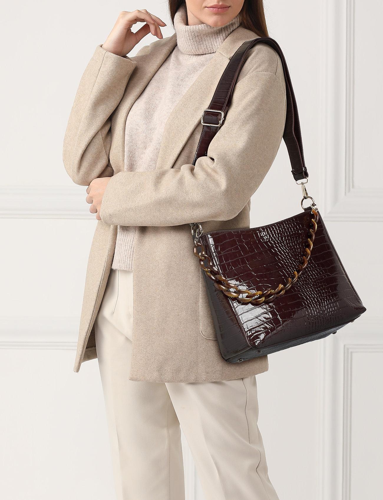 HVISK - AMBLE CROCO - torby na ramię - dark burgundy - 0