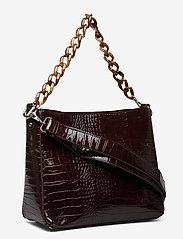 HVISK - AMBLE CROCO - torby na ramię - dark burgundy - 3