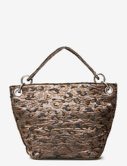 HVISK - NEAT LEOPARD - handväskor - silver brown multi - 1