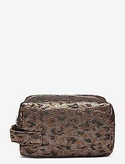 HVISK - AVER LEOPARD - toilettassen - silver brown multi - 0