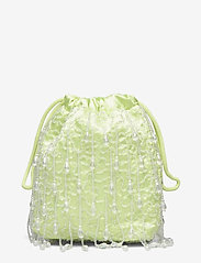 HVISK - POUCH ROMANCE BEADED - bucket-laukut - lime green - 0