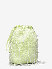 HVISK - POUCH ROMANCE BEADED - bucket-laukut - lime green - 2