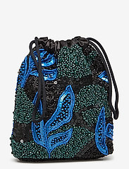 HVISK - POUCH GALLERY BEADED - clutches - blue / black - 0